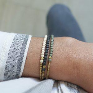 Bracelet JAGUA naturel Maison Clairon