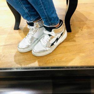Basket Eclair argenté-blanc