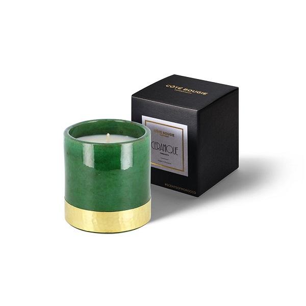 Bougie Green Gold côté bougie