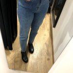 Jean droit bleu