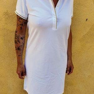 Robe VALERIANE blanche Les Tropéziennes