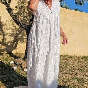 ROBE BANDITAS GELSA Blanche