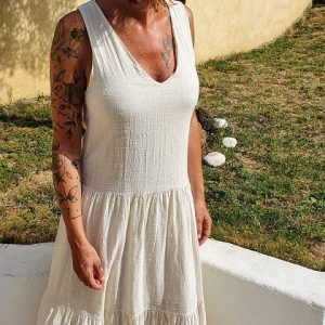 Robe Coton Ecru Ninette