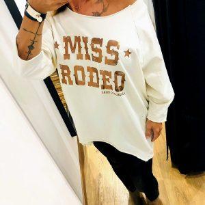 SWEAT MISS RODEO ECRU SAND COACHELLA