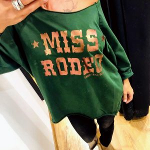 SWEAT MISS RODEO VERT SAND COACHELLA